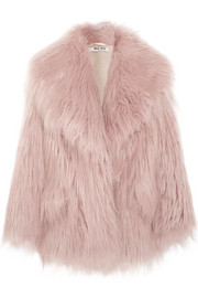Miu Miu Oversized faux fur coat