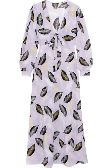 Silk maxi dress Miu Miu Cw23Ha