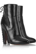 Alaïa Lace-up detail leather ankle boots