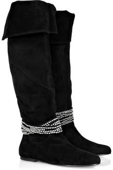 Antik Batik|Bela crystal-embellished suede boots|NET-A-PORTER.COM from net-a-porter.com