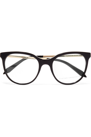 7fb9096d410 Victoria Beckham. Classic Kitten cat-eye acetate and gold-tone optical  glasses
