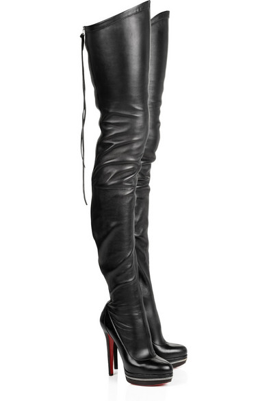 limpid in sight fashionable and attractive package durable modeling Unique 140 leather thigh-high boots