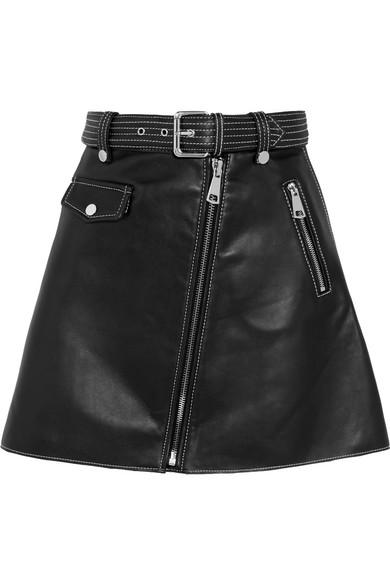 af2681b57 Maje   Leather mini skirt   NET-A-PORTER.COM