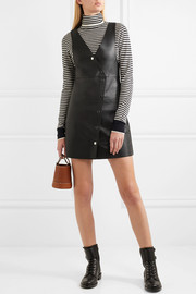 Maje Leather mini dress