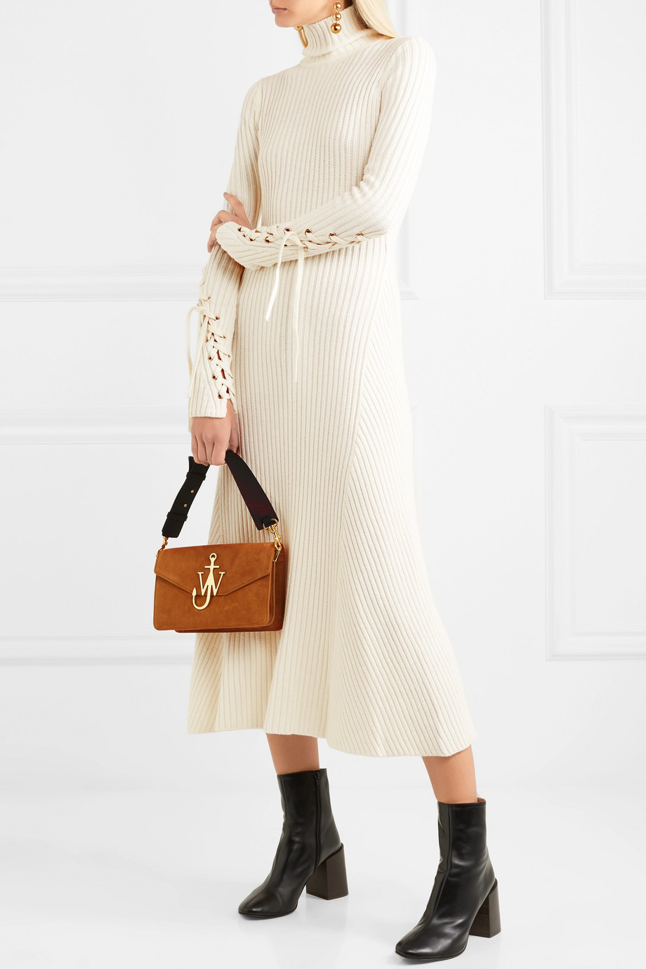 Maje midi dress / knitwear