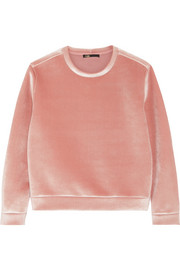 Maje Stretch-velvet sweatshirt