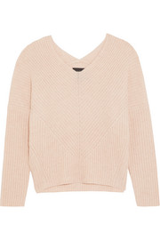 Maje Ribbed cashmere sweater