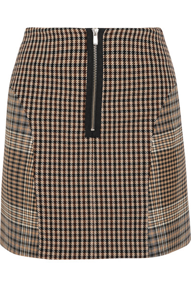 2d0e125140 Maje | Checked cotton-blend mini skirt | NET-A-PORTER.COM