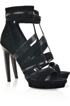 Emilio Pucci Suede and leather strappy sandals