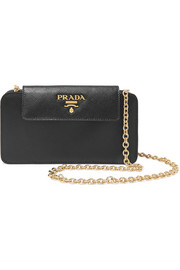 Prada Textured-leather phone case