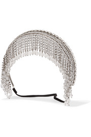 Miu Miu Silver-tone, crystal and bead headband