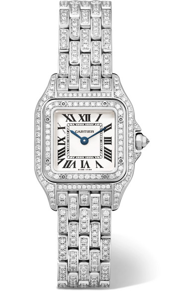 Cartier - Panthère De Cartier Small 18-karat Rhodiumized White Gold Diamond Watch - one size