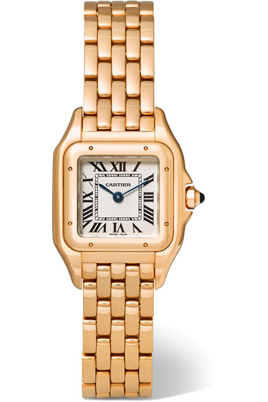 Cartier - Panthère De Cartier Small 18-karat Pink Gold Watch - Rose gold