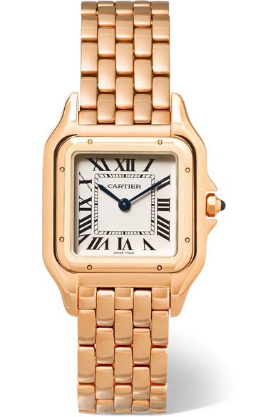 Cartier - Panthère De Cartier Medium 18-karat Pink Gold Watch - Rose gold