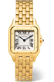 Panthère de Cartier medium 18-karat gold watch