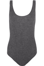Ada open-back ribbed cashmere bodysuit