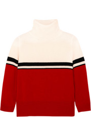 Amy color-block cashmere turtleneck sweater