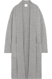 Isobel ribbed wool and cashmere-blend cardigan