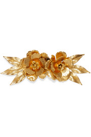 Rowena gold-plated hair slide