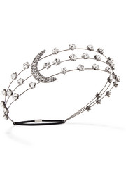 Jennifer Behr Gunmetal-plated Swarovski crystal headband