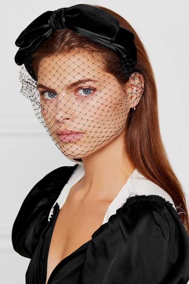 prix de détail nouveau sélection gamme exceptionnelle de styles et de couleurs Serre-tête à voilette en velours à finitions en nœud