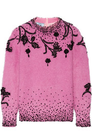 Prada Beaded mohair-blend sweater