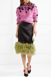 Beaded mohair-blend sweater