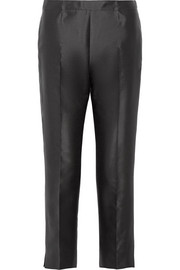 Prada Cropped wool and silk-blend straight-leg pants