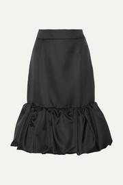 Prada Wool and silk-blend duchesse-satin skirt