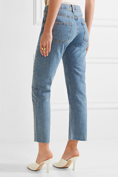 Current/Elliott The Original Straight hoch sitzende Jeans