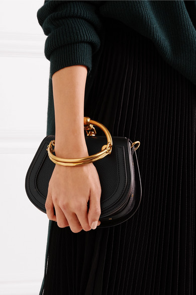 4ad151e091 Chloé | Nile Bracelet small textured-leather and suede shoulder bag ...