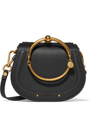 Chloé Nile Bracelet small textured-leather shoulder bag