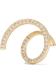 Athene D'or 18-karat gold diamond earring