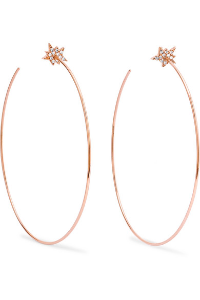 Diane Kordas - Explosion 18-karat Rose Gold Diamond Earrings