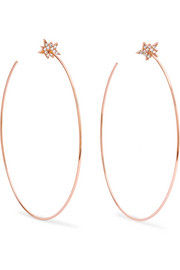 Explosion 18-karat rose gold diamond earrings