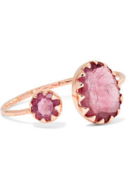 Lara 9-karat rose gold tourmaline ring