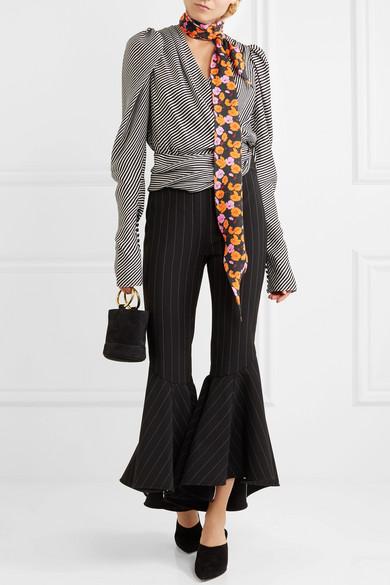 Hubei Floral-print Silk-crepe Scarf - Orange Magda Butrym jVWQefKh