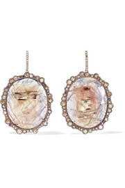 Kimberly McDonald 18-karat rose gold, sapphire and diamond earrings