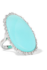 Kimberly McDonald 18-karat white gold, opal and diamond ring