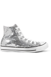 Chuck Taylor All Star sequined canvas high-top sneakers