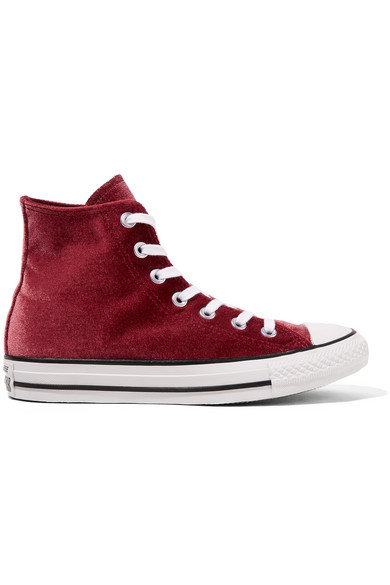 Chuck Taylor All Star Velvet High Top Sneakers by Converse
