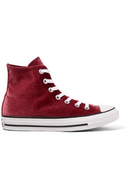 Converse Chuck Taylor All Star velvet high-top sneakers