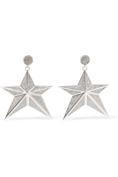 Magda Butrym - Starr Silver-tone Crystal Earrings