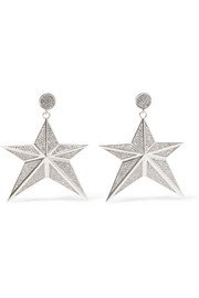 Starr silver-tone crystal earrings