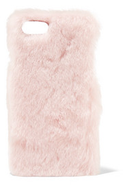 Faux shearling iPhone 7 case