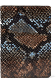 Python-effect leather passport cover