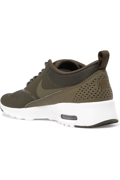 39d1d904f9 Nike. Air Max Thea rubber, stretch-mesh and croc-effect leather sneakers.  £38. Zoom In