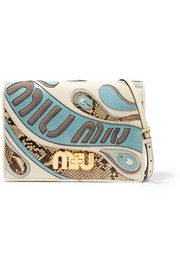 Miu Miu My Miu leather, suede and python shoulder bag
