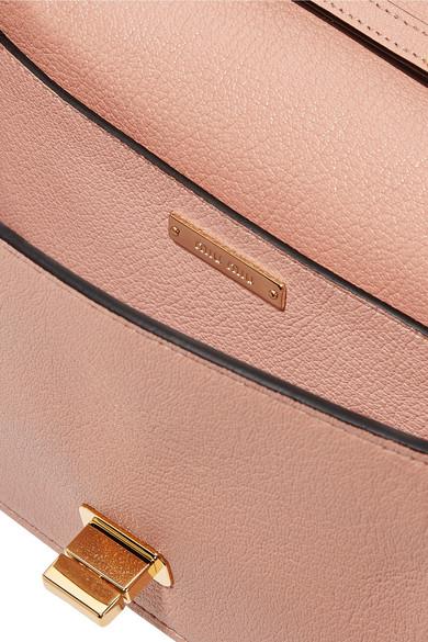 a7f6f4efcacd My Miu embellished watersnake-trimmed textured-leather shoulder bag.   1