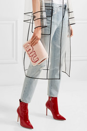 Miu Miu Shearling and textured-leather shoulder bag